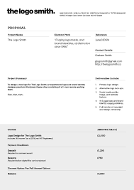 Illustration Invoice Template Logo Design Proposal Invoice Template To Download Design And