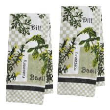 herbs printed kitchen towels set of 2 christmas tree shops andthat