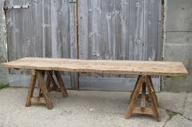 trestle tables for sale long rustic trestle table for sale at 1stdibs