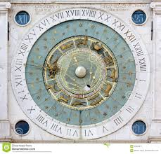 astronomical clock in the piazza dei signori in padua stock photo
