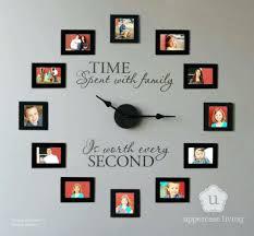 wall clocks family time photo frame wall clock real family wall