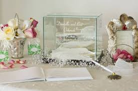 wedding gift card holder personalized glass wedding card keepsake box rectangle small