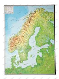 Scandinavia On Map 3d Relief Map Scandinavia 3d Countries And Regions Maps 3d