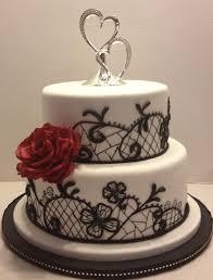 marymel cakes black white u0026 red wedding