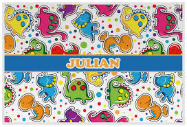 dinosaur print placemat laminated personalized potty scotty