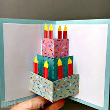 pop up birthday cards birthday or wedding cake pop up card