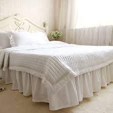3pcswhite quilting cotton padded lace duvet cover 100 cotton bed cover white lace