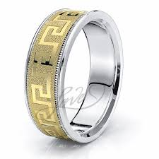 carved wedding band solid 7mm key comfort fit wedding ring