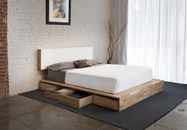 queen platform bed with headboard simple making queen platform