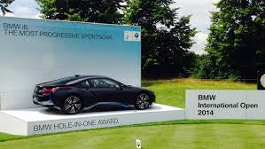 bmw tournament heath wins bmw i8 for in one