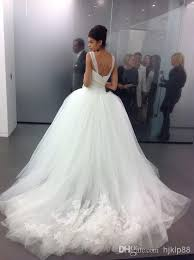 poofy wedding dresses 2014 custom made tulle big poofy gown wedding dresses