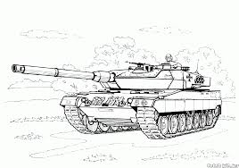 coloring page german tank
