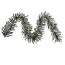 9 foot frosted sartell garland trees