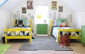 Batman Decor For Bedroom Modern Superhero Boys Room