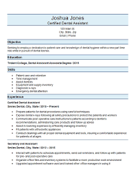 Veterinary Technician Resume Examples by Certified Dental Assistant Resume Example