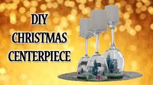 wine glass christmas centerpiece diy youtube