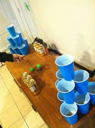 Backyard Drinking Games Glow Bracelets In Beer Pong Cups Brilliant Safe U0026 Inexpensive