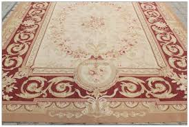 Chinese Aubusson Rugs Antique Red Beige 8x10 Aubusson Area Rug Classic French Pastel