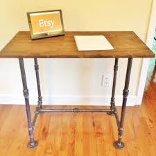 Computer Desk Sale Industrial Style Steel Pipe Handmade Desk For Sale On Etsy