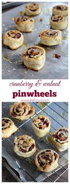 cranberry and walnut pinwheels www diethood cranberries