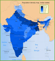 Bhopal India Map by India Population Density Map