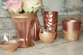 wedding table decorations candle holders rose gold wedding decor 6 rose gold dipped vintage vases and votive
