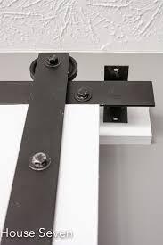 How To Install Barn Door Hardware Remodelaholic 35 Diy Barn Doors Rolling Door Hardware Ideas