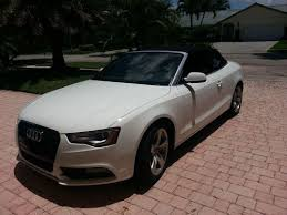 white audi a5 convertible buy used 2013 audi a5 cabriolet fwd multitronic ibis white black