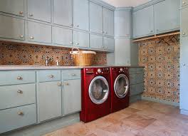 laundry room tile mediterranean laundry room dallas by