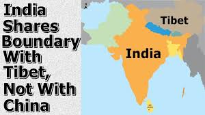 Map Of India And China by India Shares Boundary With Tibet Not With China Arunachal