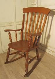 Rocking Chairs Uk Victorian Beech And Elm Slat Back Carver Rocking Chair 287044