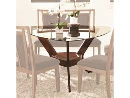 najarian gallia triangular dining table with pedestal base and