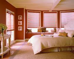 Bedroom Blinds Ideas Decorating Wooden Levolor Vertical Blinds Plus Brown Wall And