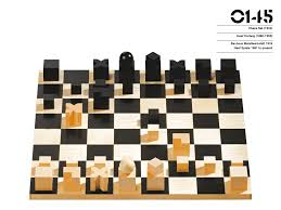 unique chess pieces josef hartwig bauhaus chess set 1924 from the phaidon design