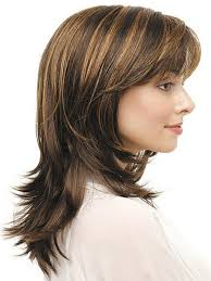 medium length haircuts with lots of layers highlight medium length straight hairstyles with bangs for layered