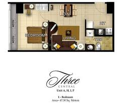 1 bedroom condo floor plans three central makati city condo pre selling makati condo by