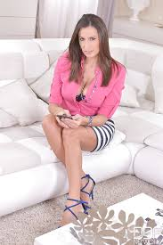Milf On Sofa Busty Milf Sensual Jane Takes Off Her Pink Blouse On Sofa