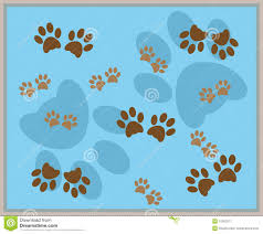 paw print background stock vector image of puppy dogs 12562977