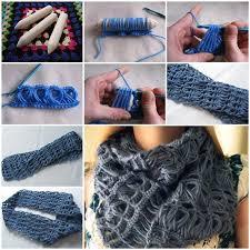 broomstick crochet diy stylish broomstick lace crochet scarf