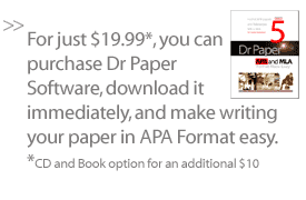 apa format template from dr paper software