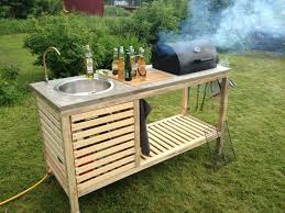 diy grill table plans how to make outdoor portable kitchen diy crafts handimania