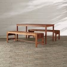 wood patio dining sets you u0027ll love wayfair
