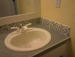 tile backsplash ideas bathroom installing glass tile backsplash in bathroom interior design