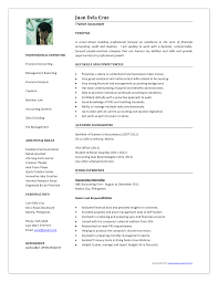 Resume Samples For Accountant by Sample Resume For Accountant In Singapore Templates