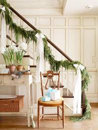 Banister Decorations For Christmas Christmas Garland Decorating Ideas