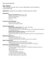 nursing resume objective statement examples 100 original sample