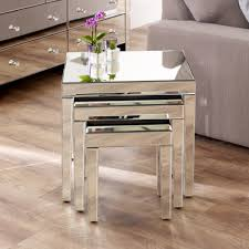 Mirrored Furniture Online Venetian Mirrored Nest Of 3 Tables