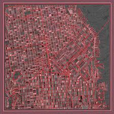 san francisco map painting san francisco abstract america