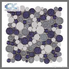 2017 acs 002 glazed penny pebble ceramic tiles purple backsplash