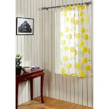 Yellow Window Curtains Home White U0026 Yellow Window Curtain Dandelion Curtains For